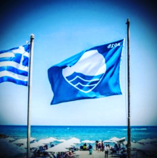 beaches paros blue dolphin blue flag